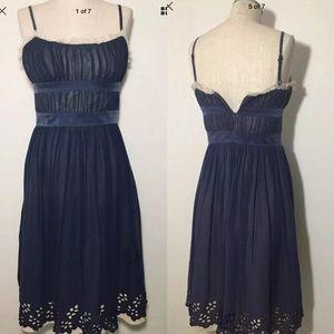 BCBG Paris Blue With Beige Lining Size 4 dress